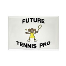 Future Tennis Pro (Girl) Rectangle Magnet