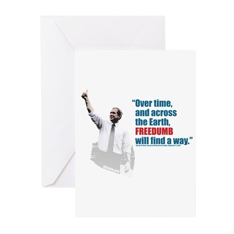 Freedumb Bush Greeting Cards (Pk of 10)