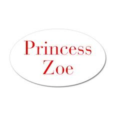 Princess Zoe-bod red Wall Decal