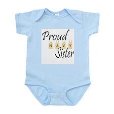 Camo Navy Sister Infant Bodysuit