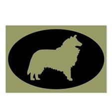Sage & Black Collie Postcards (Package of 8)