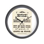 Smokers & Chewers Wall Clock