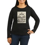 Smokers & Chewers Women's Long Sleeve Dark T-Shirt
