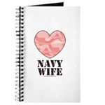 Navy Wife Pink Camo Heart Journal