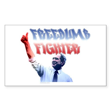 Freedumb Fighter Bush Rectangle Sticker