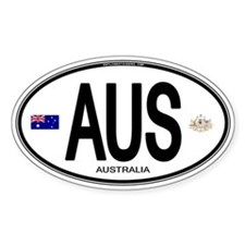 Australia Euro Oval Oval Decal