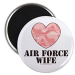Air Force Wife Camo Heart 2.25