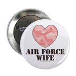 Air Force Wife Camo Heart Button