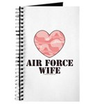 Air Force Wife Camo Heart Journal