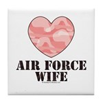 Air Force Wife Camo Heart Tile Coaster