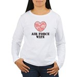 Air Force Wife Camo Heart Women's Long Sleeve Tee