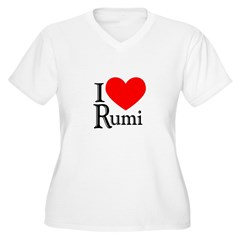 Rumi Women's Plus Size V-Neck T-Shirt