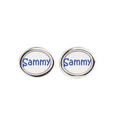 Sammy-kri blue Oval Cufflinks