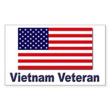 Vietnam Veteran Rectangle Decal