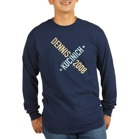 Twisted Kucinich 2008 Long Sleeve Navy Tee