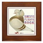 Domestic Flights Rock! Framed Tile