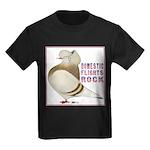 Domestic Flights Rock! Kids Dark T-Shirt