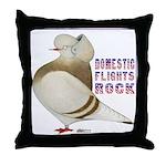 Domestic Flights Rock! Throw Pillow