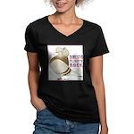 Domestic Flights Rock! Women's V-Neck Dark T-Shirt