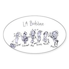 La Boheme: The Oval Decal