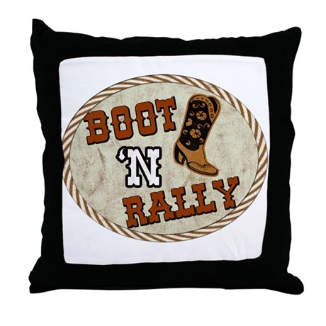 Boot 'N Rally Throw Pillow