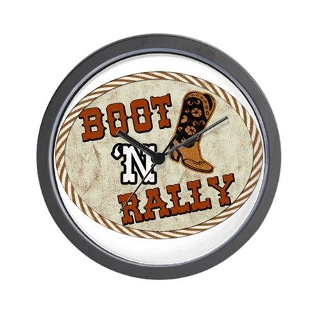 Boot 'N Rally Wall Clock