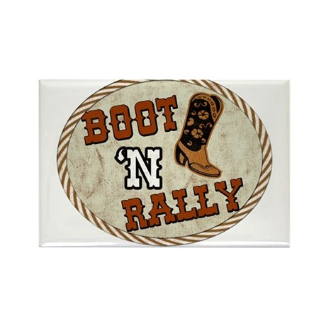 Boot 'N Rally Rectangle Magnet