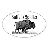 BUFFALO SOLDIER Oval Decal