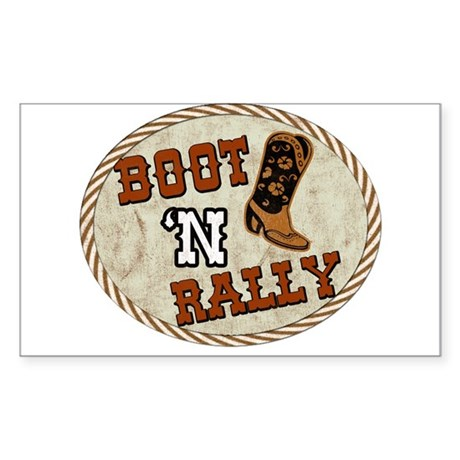 Boot 'N Rally Rectangle Sticker