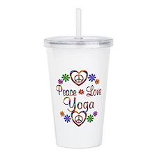 Peace Love Yoga Acrylic Double-wall Tumbler