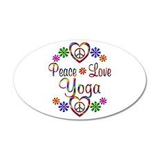 Peace Love Yoga 35x21 Oval Wall Decal