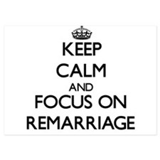Keep Calm and focus on Remarriage Invitations