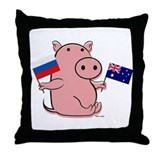 AUSTRALIA AND RUSSIA Throw Pillow