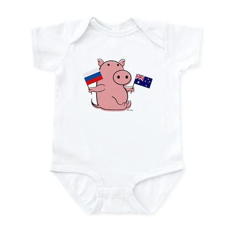 AUSTRALIA AND RUSSIA Infant Bodysuit