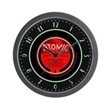 """Atomic"" 78 Record Label Wall Clock"