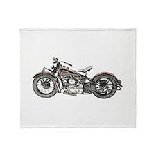 1937 Motorcycle Throw Blanket