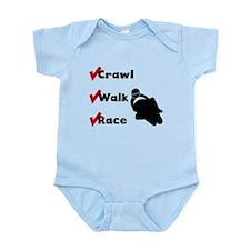 Crawl Walk Race Body Suit