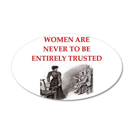 sherlock holmes quote 20x12 Oval Wall Decal