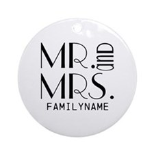 Personalized Mr. Mrs. Ornament (Round)