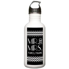 Cute Mr and Mrs Chevro Water Bottle