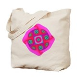 'Hypnotic Pink Original Fractal Tote Bag