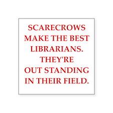 """librarian Square Sticker 3"""" x 3"""""""