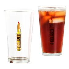 .338 Lapua Upright Drinking Glass