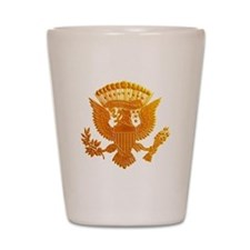 Vintage Gold Presidential Seal Shot Glass
