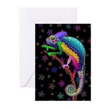 Chameleon Fantasy Rainbow Greeting Cards