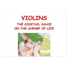 violin 3.5 x 5 Flat Cards