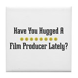 Hugged Film Producer Tile Coaster