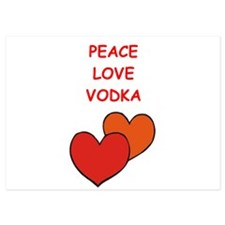 vodka 5x7 Flat Cards