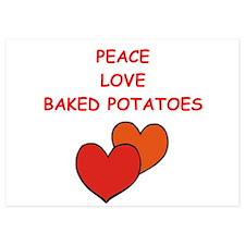 baked potato 5x7 Flat Cards