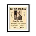 Judge Roy Bean Framed Panel Print